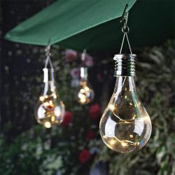 Hanging Solar LED Light Bulb Lamp Waterproof Solar Rotatable Outdoor Garden Camping Hanging LED Light Lamp Bulb Night Light 2018