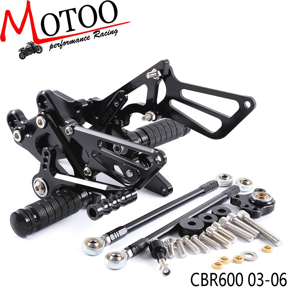Full CNC Aluminum Motorcycle Adjustable footrest Rearsets Rear Sets Foot Pegs For HONDA CBR600RR CBR 600RR CBR 600 RR 2003-2006
