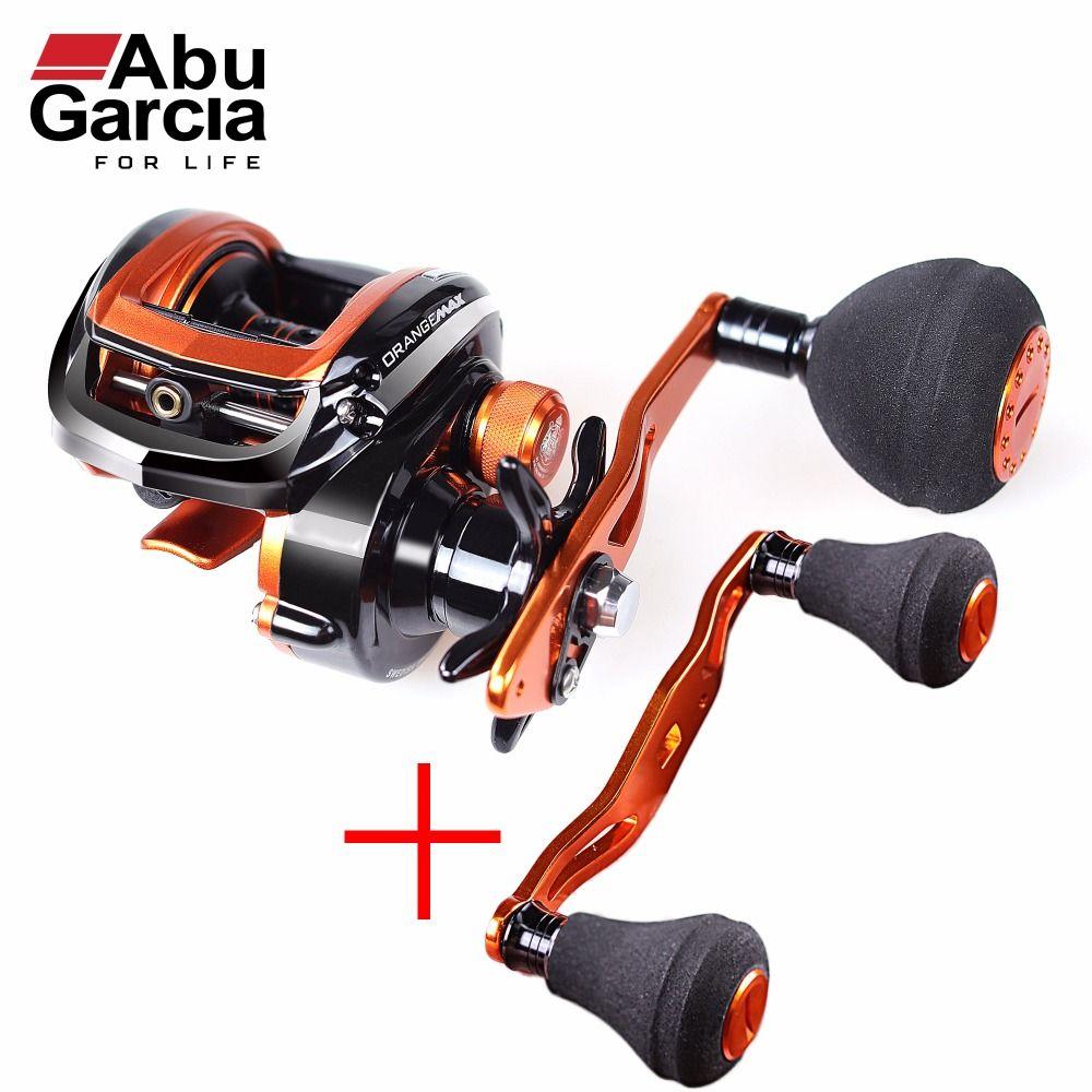 Abu Garcia Brand Orange Max3 Right Left Hand Fresh Sea Water BaitCasting Reel Carp Fishing Gear Baitcasting 5BB 7.1:1 OMAX3