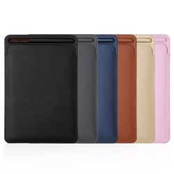 Premium PU Sleeve Case for New iPad Pro 11 Pouch Bag Cover with Pencil Slot for iPad Pro 10.5 and for new ipad 9.7 2018 Release