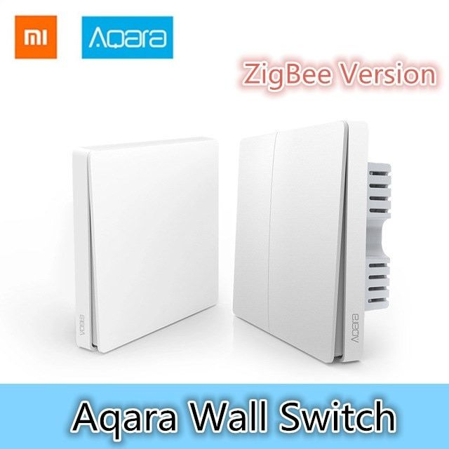 Xiaomi Aqara Wall Switch Smart Light Control ZigBee Version Wireless Connection Single Key Control