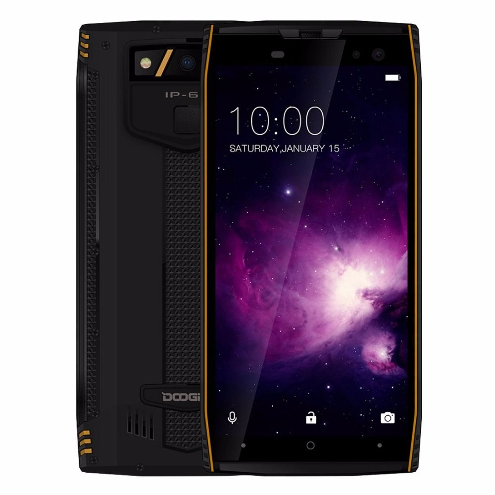 DOOGEE S50 IP68 64GB Waterproof Smartphone 5.7'' 18:9 6GB MTK6763 Octa Core Android 7.1 5180mAh 4 Cameras 16.0MP Rugged Phones