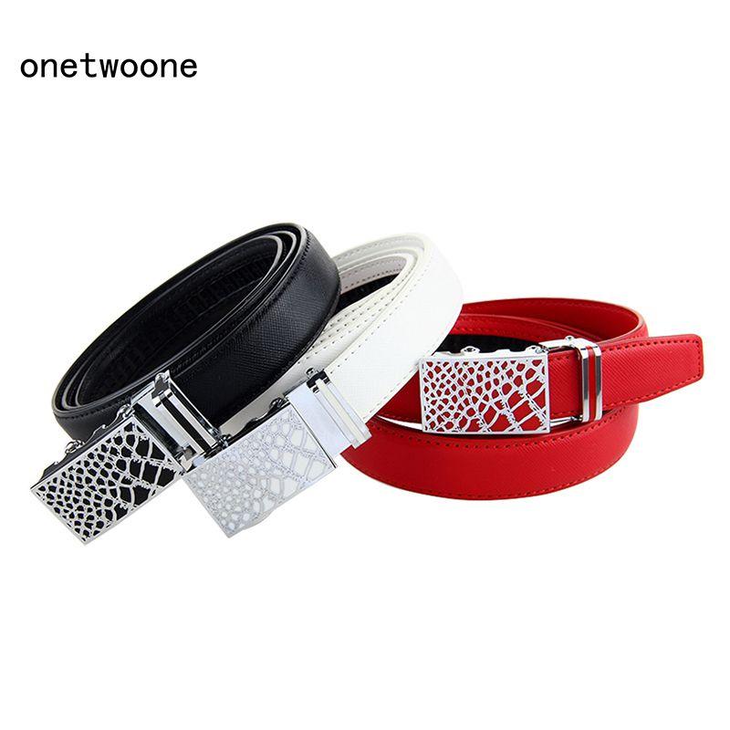Nouvelle mode en cuir véritable femmes ceinture taille automatique boucle ceinture haute qualité en cuir ceintures femme sangle taille grande taille 135
