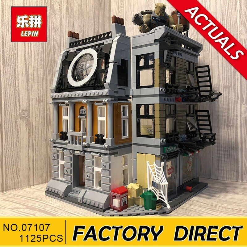 Lepin 07107 Super Hero Series 1125pcs The 76108 Sanctum Sanctorum Showdown Set Building Blocks Bricks Toys Kids' Birthday Gifts