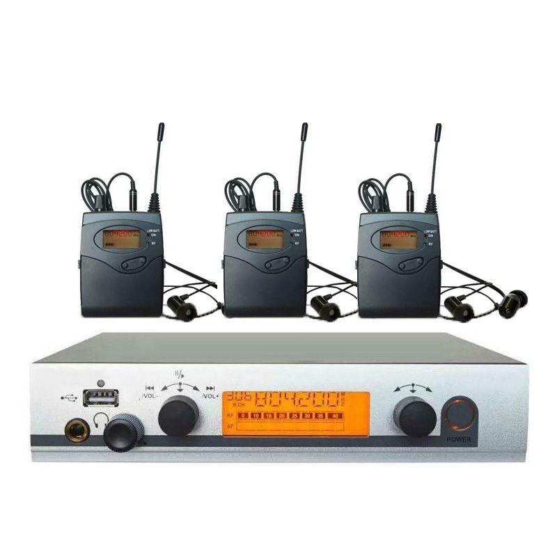 3 Empfänger Pro ohr monitore drahtlose Feedback-System mit in-ohr kopfhörer für Bühnen Club Bar TV station Überwachung