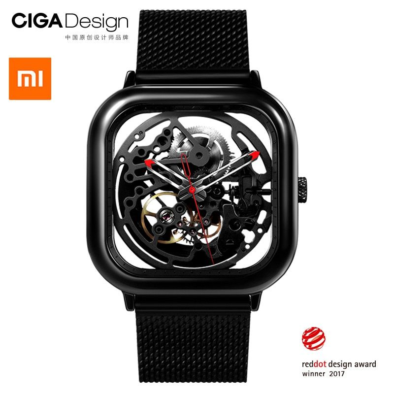 Xiaomi Mijia MI CIGA Design Hollowed-out Mechanical Wristwatches Watch Reddot Winner Stainless Fashion Luxury Automatic Watches