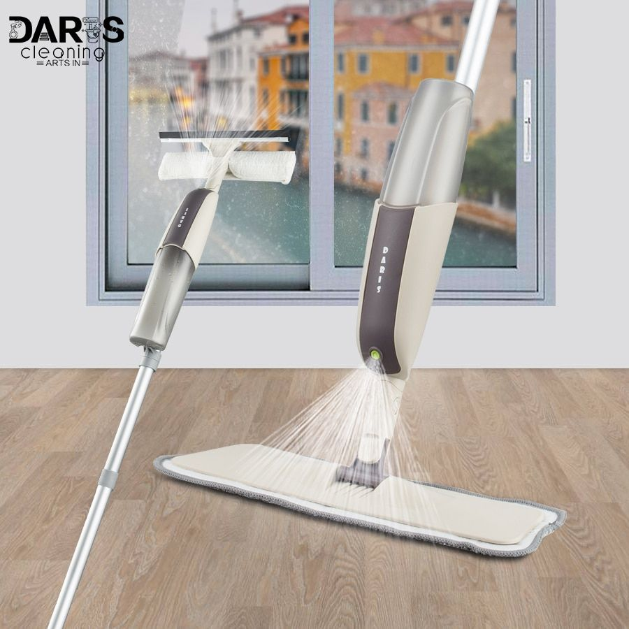 Dropshipping Spray Mop Wood Floor Cleaner Long Handle Window Cleaning Brush Multi-functional Household Clean Tools 4pcs Mop Pads