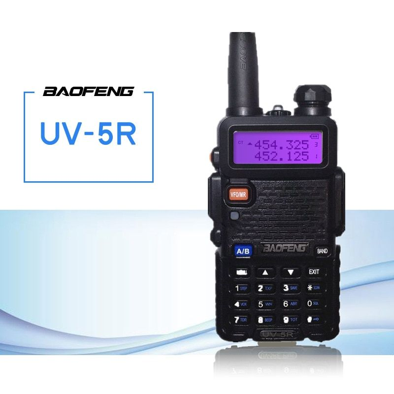 Baofeng UV-5R Walkie Talkie 5W High Power VHF/UHF 136-174/400-520MHz Dual Band FM Handy Hunting Radio Receiver