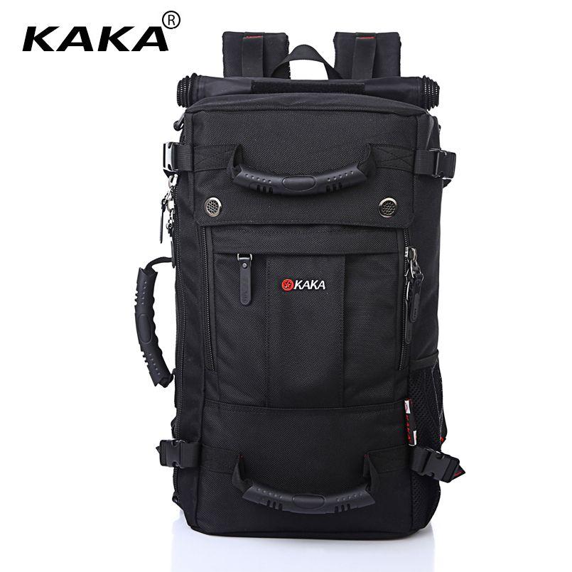 KAKA Brand Stylish Waterproof Large Capacity Backpack Male Luggage Travel Shoulder Bag Computer Backpack Men Multifunctional Bag