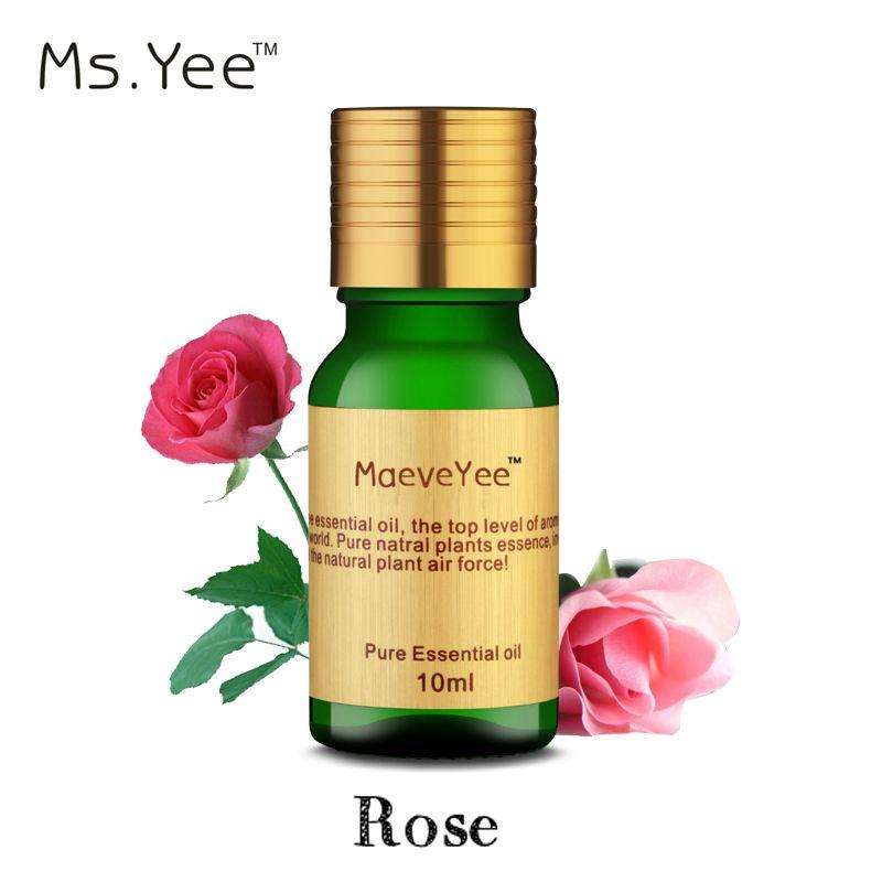 100% Pure Huile de Rose pour Soins de La Peau Hydratant Végétal Naturel huiles essentielles aromathérapie pour Diffuseurs Humidificateur lampe berger
