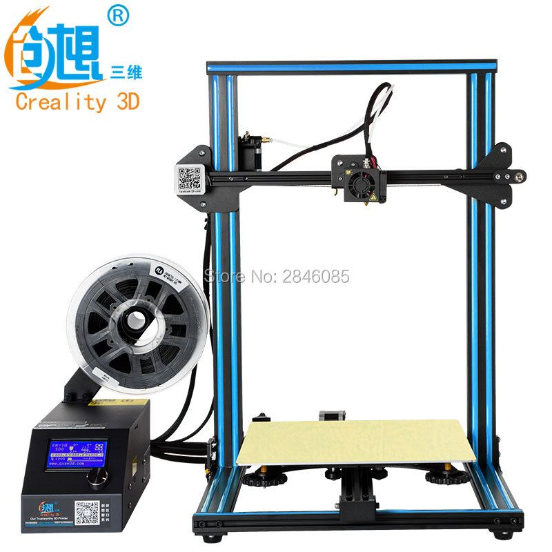 CREALITY 3D CR-10 Semi-Assembled Aluminum 3D Printer Kit with Filament,3 d Printer Large Print Size 300x300x400mm