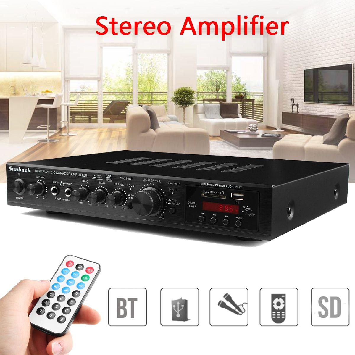 220V 300W+300W+120W Digital Audio Amplifier 5CH Bluetooth Stereo AV Surround Amplifier Karaoke Cinema PA High Power