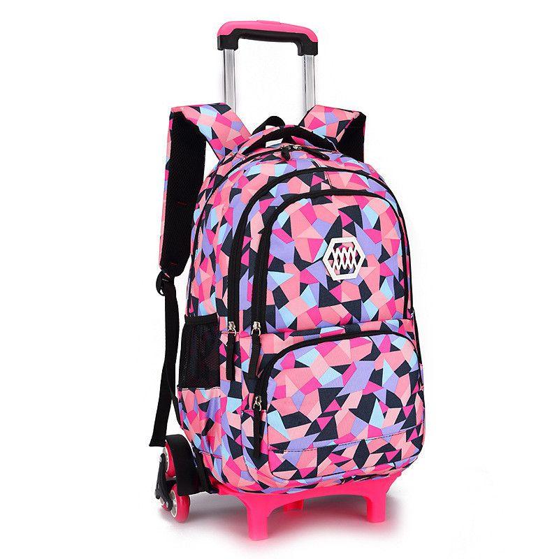 Vente chaude Amovible Enfants Sacs D'école avec 2/3 Roues pour Filles Chariot Sac À Dos Enfants Roues Sac Bookbag voyage bagages