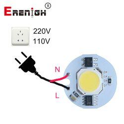 Светодиодный индикатор чип, COB 9 W 7 W 5 W 3 W 220 V 110 V Вход смарт-ic драйвера, пригодный для DIY холодный белый/теплый белый Светодиодный прожектор Про...