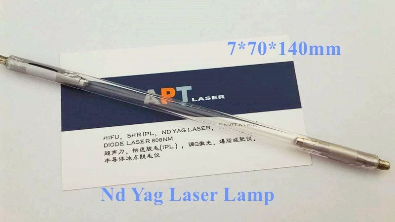 ND YAG laser xenon lampe 7*70*140 installiert in q-switched ND YAG griff/handstück