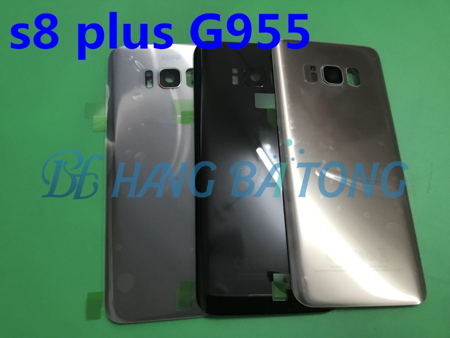 10pcs/lot Original Rear Panel Battery Glass Back Door Cover with Rear camera glass For Samsung Galaxy s8+edge plus G955 G955F