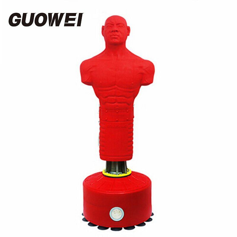 Speed Boxing humanoid Suckers vertical Punching Bag for men Boxing Sandbag silastic Punching Bag for CrossFit Fitness Equipment
