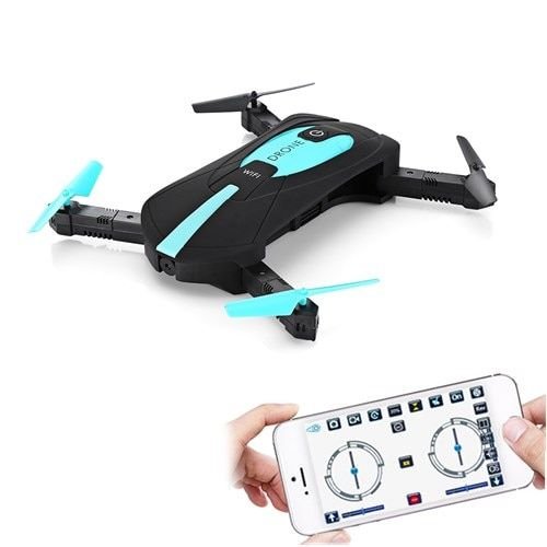 JY018 ELFIE WiFi FPV Camera Drone Mini Foldable Selfie Drone RC Drones with 2MP Camera HD FPV Professional H37 720P RC