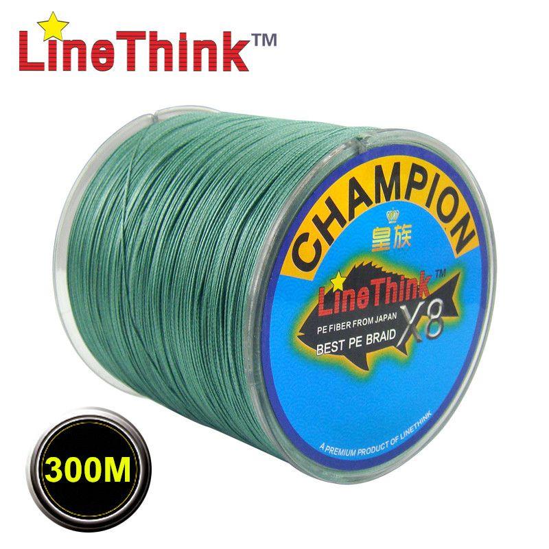 300 M GHAMPION LineThink Marque 8 Brins/8 Armure Meilleure Qualité Multifilament PE Tressé Ligne De Pêche De Pêche Tresse Livraison gratuite