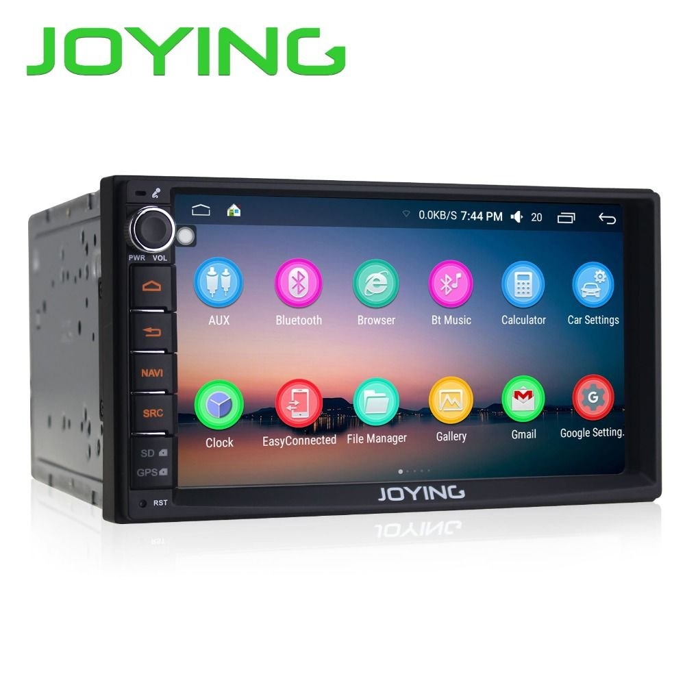 Joying 7 Double 2 Din Android 6.0 Media Player Universal Car Radio Stereo Quad Core GPS Navigator Head Unit Steering Wheel