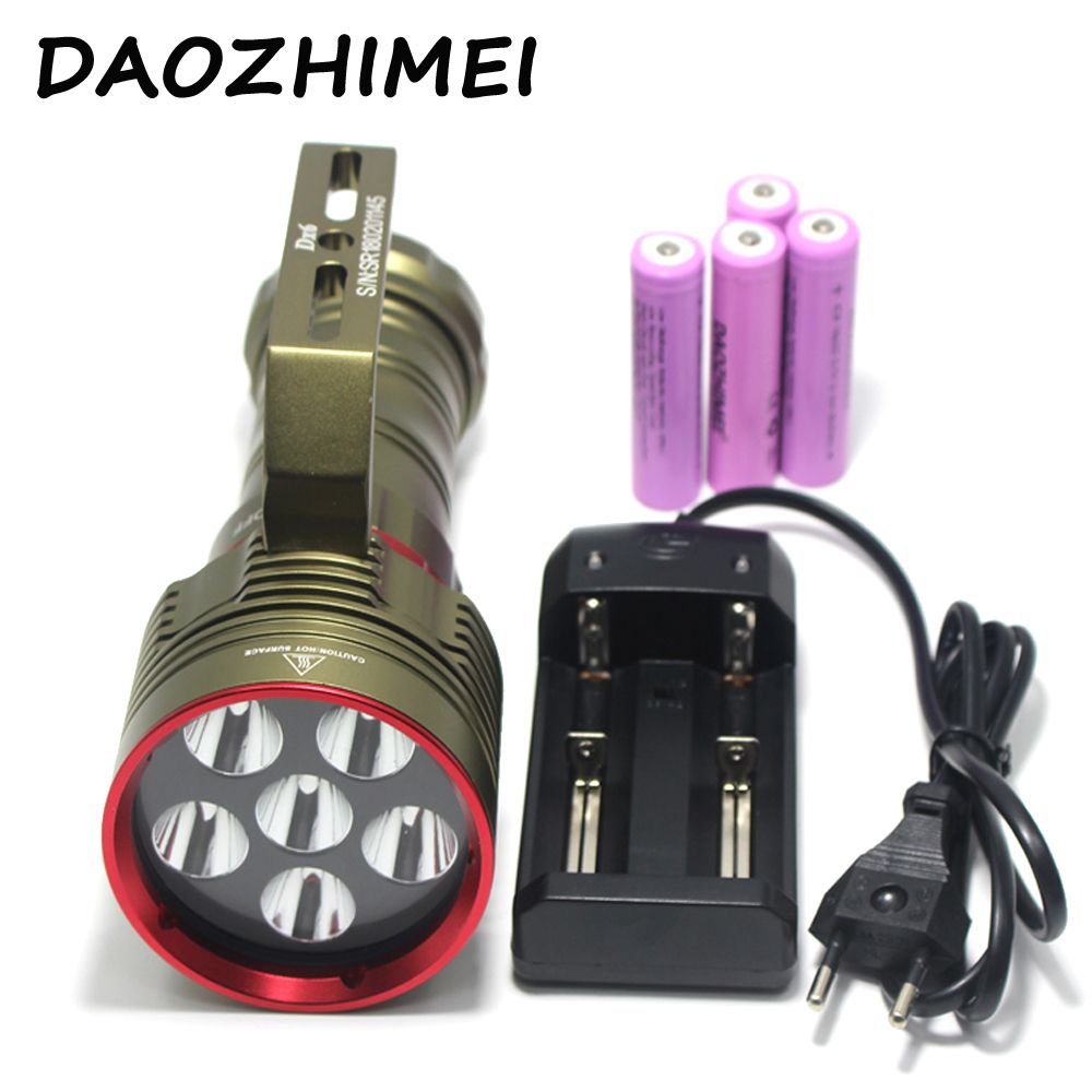 2018 New 10000 Lumens Underwater 100Meters Scuba Diving Flashlight 6x XM-L L2 LED Flash Light 4x18650 6*L2 LED Torch Lights