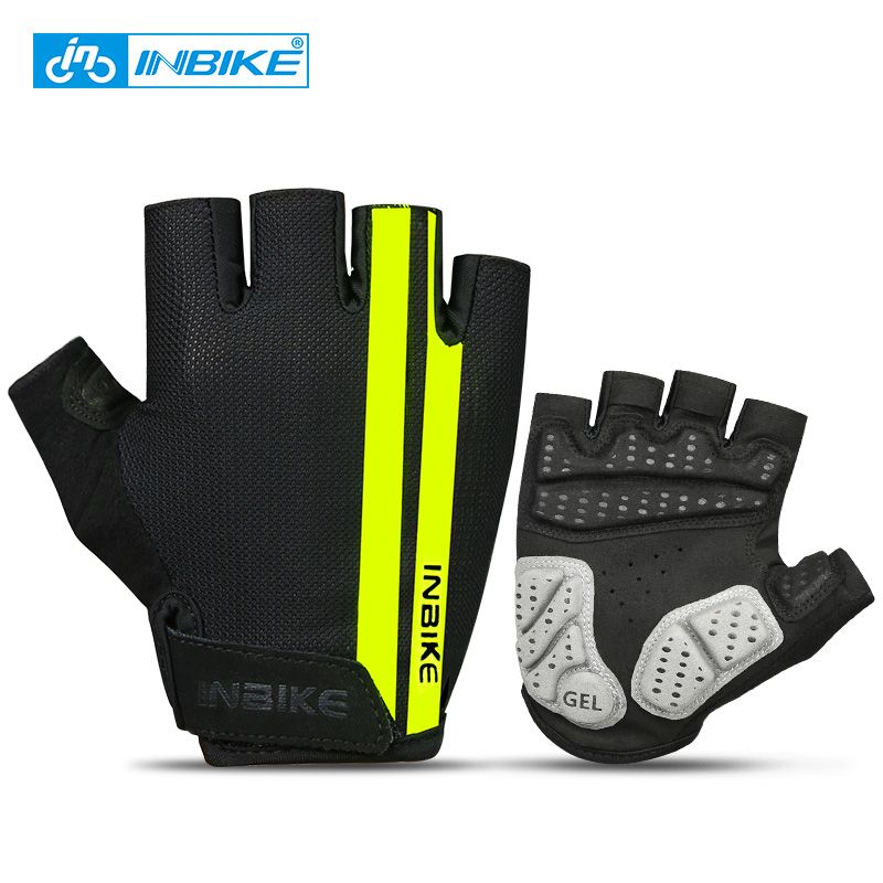 INBIKE Cycling Gloves Half Finger Anti Slip Gel Pad Breathable Motorcycle MTB <font><b>Road</b></font> Bike Gloves Men Women Sports Bicycle Gloves