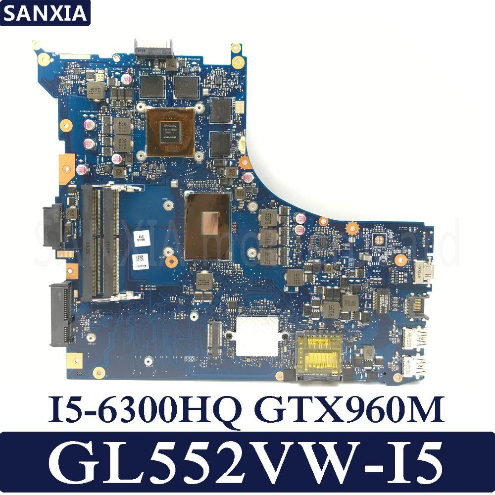KEFU ROG GL552VW Laptop motherboard for ASUS GL552VW GL552VX GL552V GL552JX Test original mainboard I5-6300HQ GTX960M