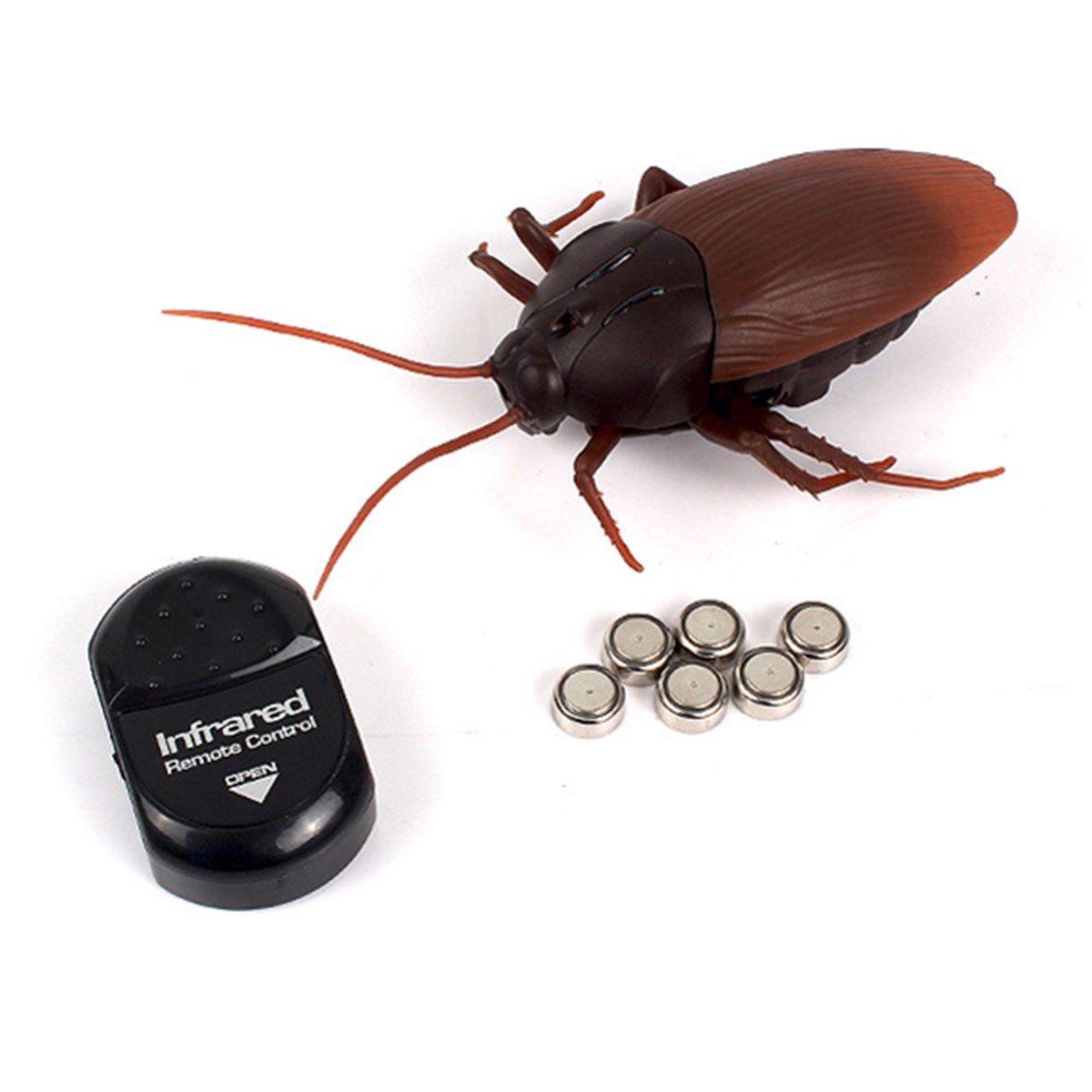 Infrarrojos RC Control Remoto Simulación divertida Scary Creepy Insectos Cucaracha Juguetes Regalo de Halloween Para Los Niños Adultos Niño