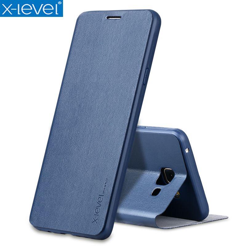 X-level Livre En Cuir Flip étuis pour samsung Galaxy A5 2017 A520 A520F Ultra Mince En Cuir D'affaires Funda Housse