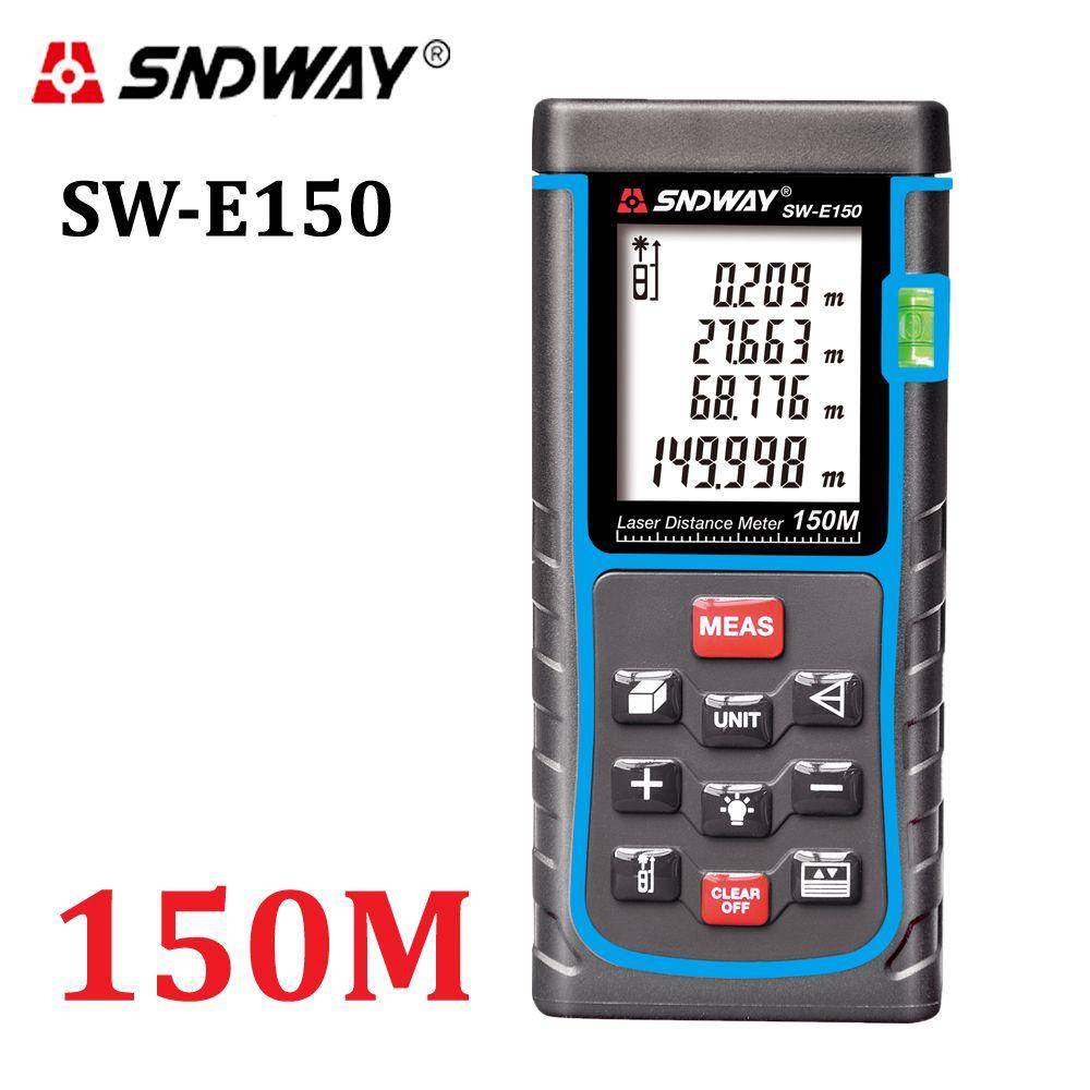 SNDWAY Laser Distance Meter 120M <font><b>150M</b></font> laser Rangefinder Tape Measure Distance/Area/volume diastimeter Range Finder tester tools