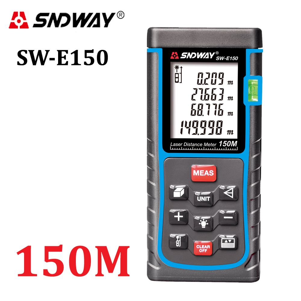 SNDWAY Laser Distance Meter 120M 150M laser Rangefinder Tape Measure Distance/Area/volume diastimeter Range Finder tester tools