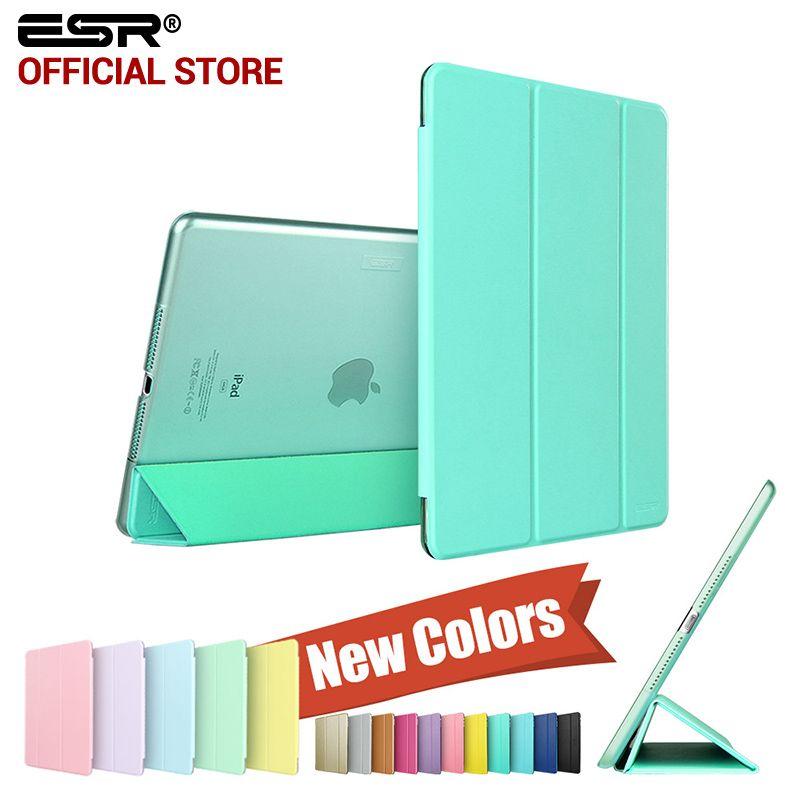 Cas pour ipad air 2, ESR Youpi Couleur PU + Transparent PC Retour Ultra Mince Lumière Poids Cas Anti-rayures pour iPad Air 2 6 Gen