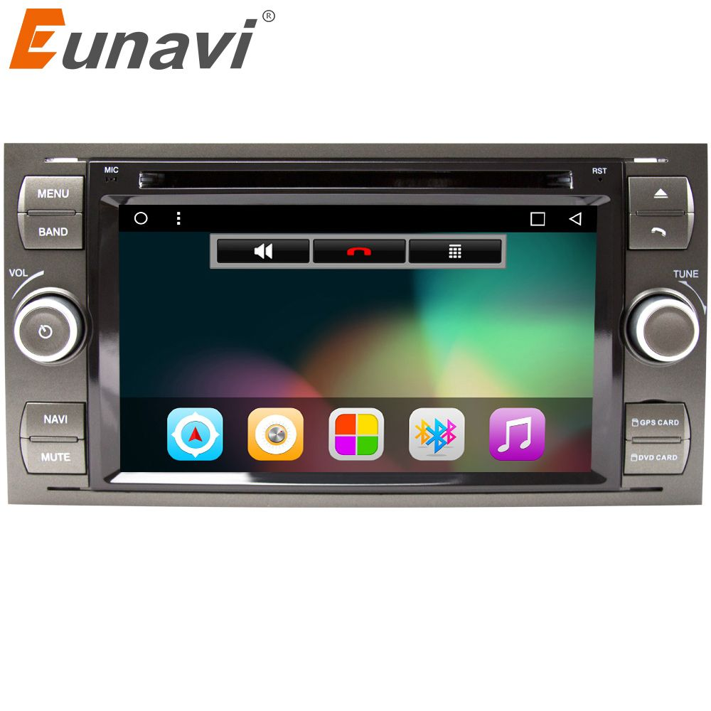 Eunavi Android 7.1 Quad core RAM 2G /1G Car DVD GPS Radio stereo For Ford Mondeo S-max Focus C-MAX Galaxy Fiesta Form Fusion PC