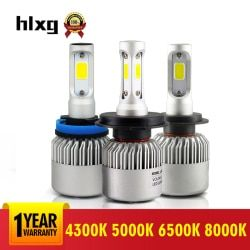 2 Pcs 12V 6500K H11 H1 H4 8000K H7  Auto Led Headlight Kit 72W/set 5000K H3 Hb4 9006 H8 9005 Cob Car Light For Toyota Honda