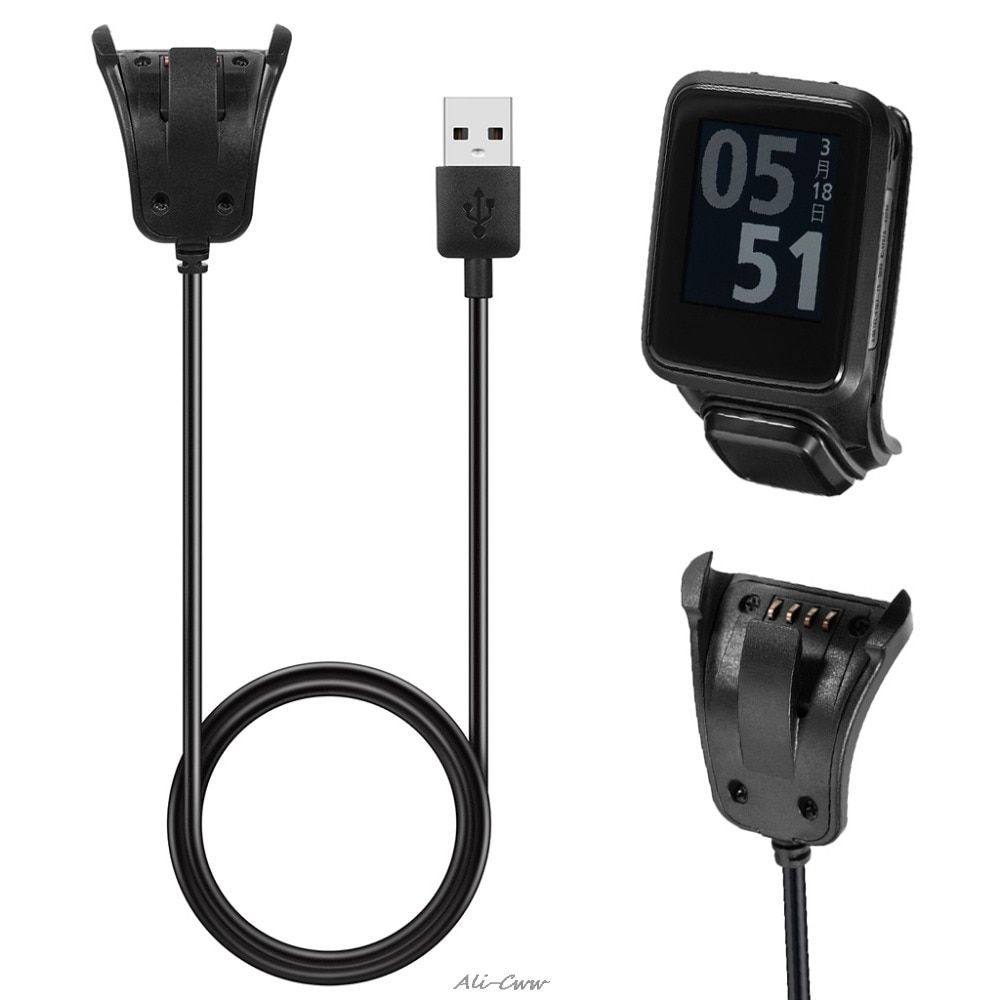 NEW Smart watch Travel charging cord USB Data Charging Cradle Cable Charger for TomTom Adventurer Golfer2 Runer2/3 Spark Spark3