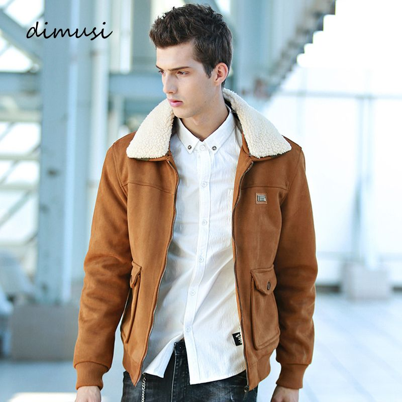 DIMUSI Winter Bomber Jacket Mens Fleece Thick Warm Coats Male Stand Fur Collar Army Jacket Tactical Mens Parkas 3XL,TA114