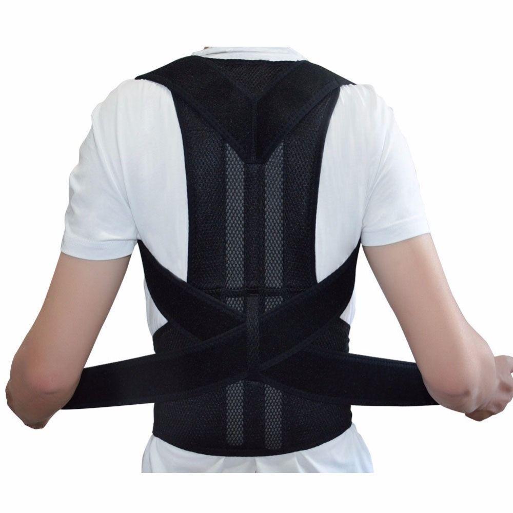 Adjustable Back Brace Posture Corrector Back <font><b>Support</b></font> Shoulder Belt Men/ Women AFT-B003 Aofeite