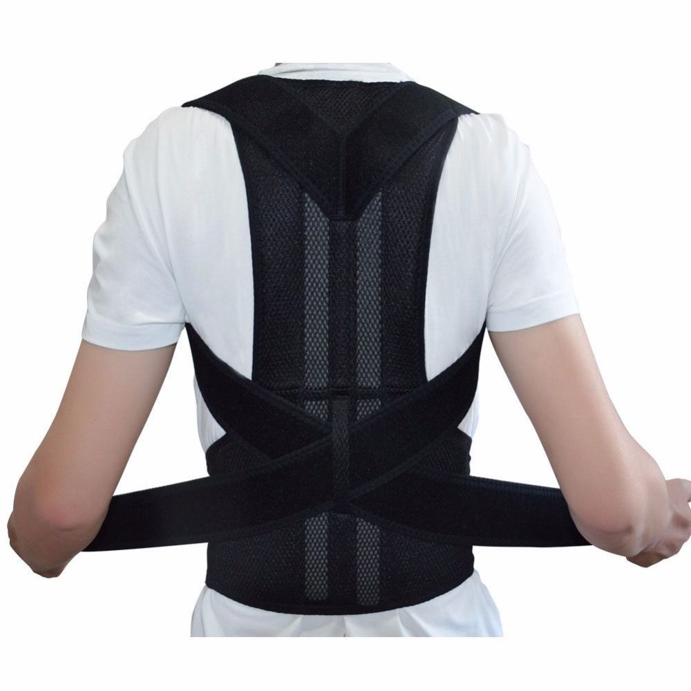 Adjustable Back Brace Posture Corrector Back Support Shoulder Belt Men/ Women AFT-B003 Aofeite