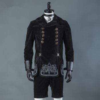 Hot Games NieR Automata 9S Cosplay Costumes Men Fancy Party Outfits Coat YoRHa No. 9 Type S Full Set for Halloween