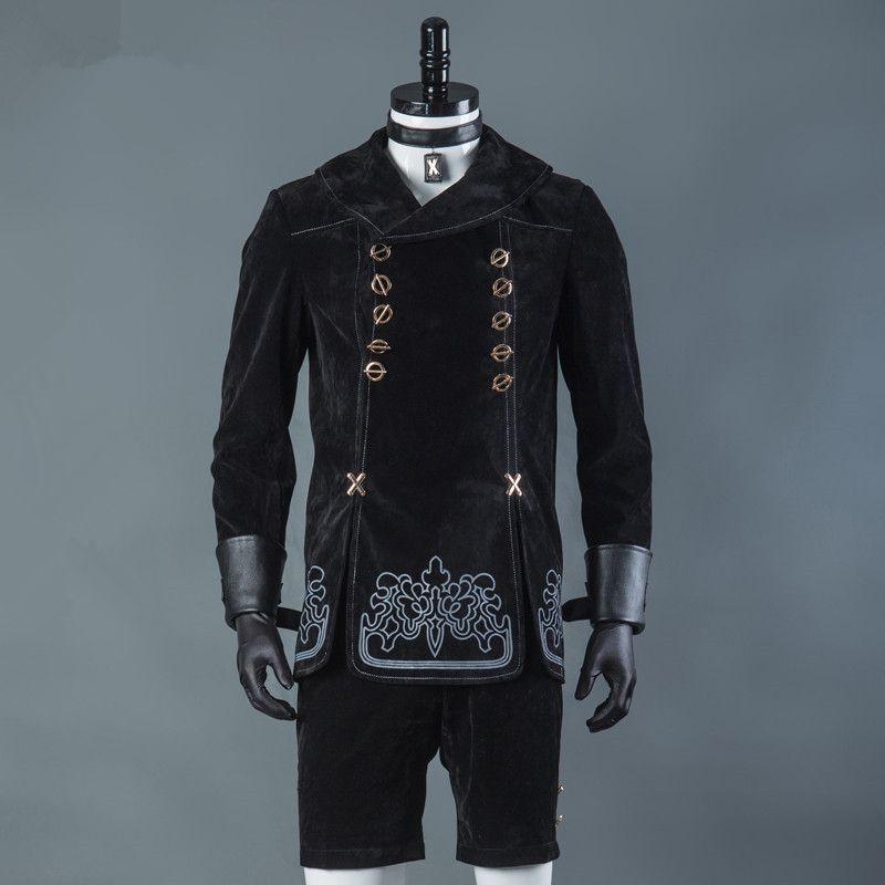 Jeux chauds NieR Automata 9S Cosplay Costumes hommes fantaisie fête tenues manteau YoRHa no.9 Type S ensemble complet pour Halloween