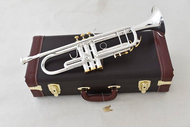 Bach Trompete LT190S-85 B Silber gold schlüssel Überzogene Top bevorzugte trompete Musical Instrumente Messing Bugle professionelle leistung