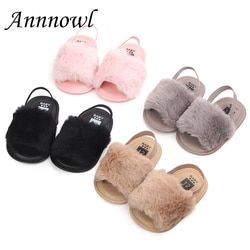 Princess Baby Girl Sandals Infant Soft Sole Anti-slip Summer Shoes Toddler Elastic Fur Loafers Meisje Sandalen Chaussure Fille