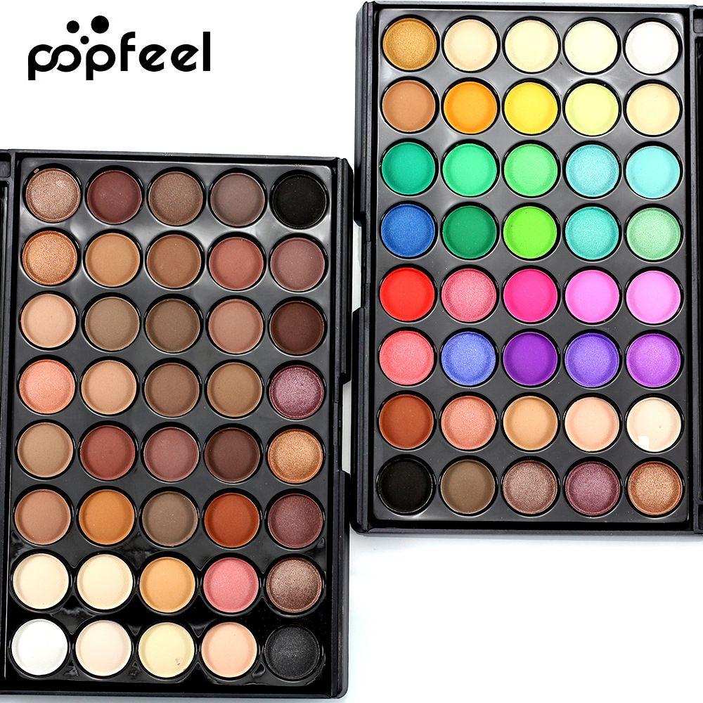 Popfeel femmes 40 couleurs fard à paupières mat lumière perle couleur fard à paupières puissance des yeux pastel couleur fard à paupières