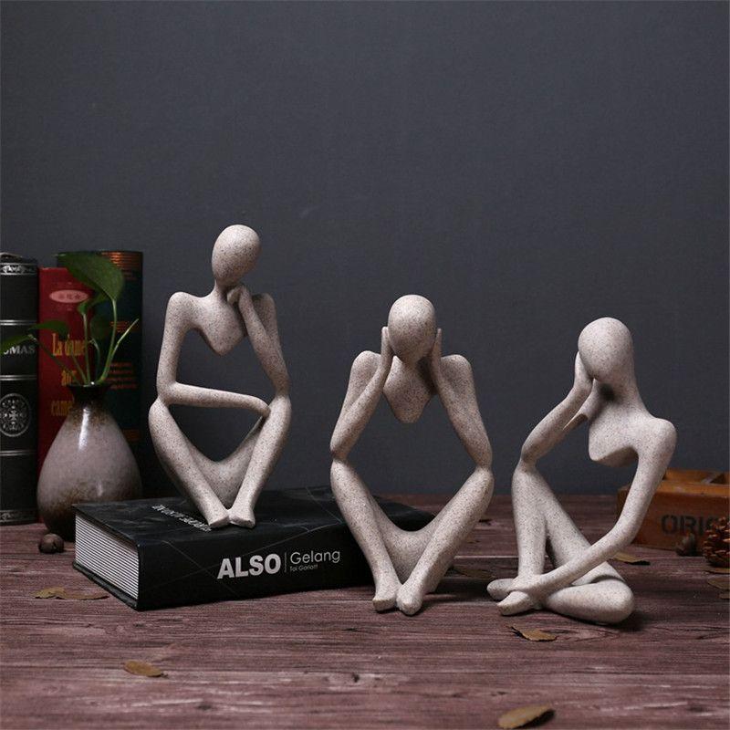 Caractère abstrait Accessoires De Décoration de La Maison Créative Européenne Ornement Salon Bureau Décor de Grès figurines