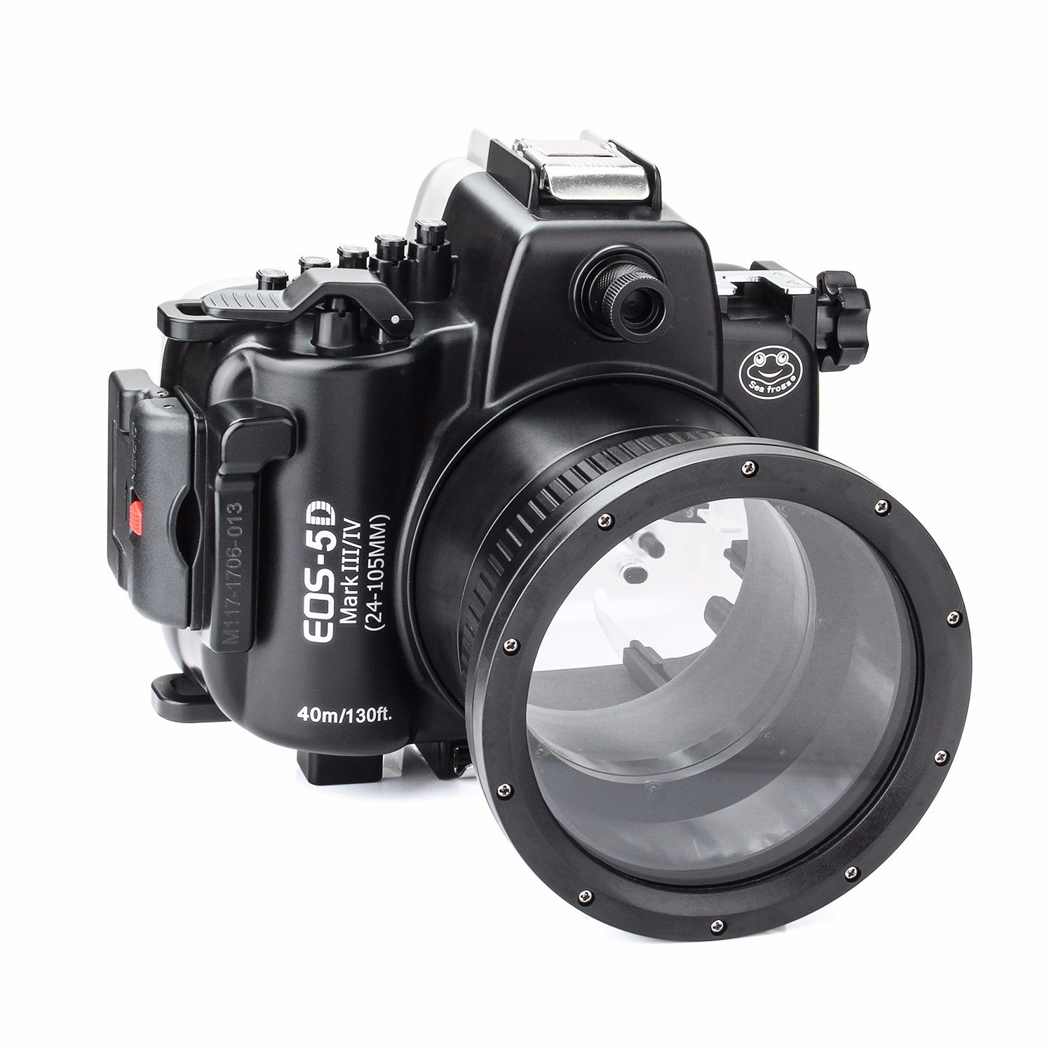 Free ship DHL SeaFrogs 40M 130ft Diving Waterproof Housing Case for Canon 5D III IV 5D3 5D4