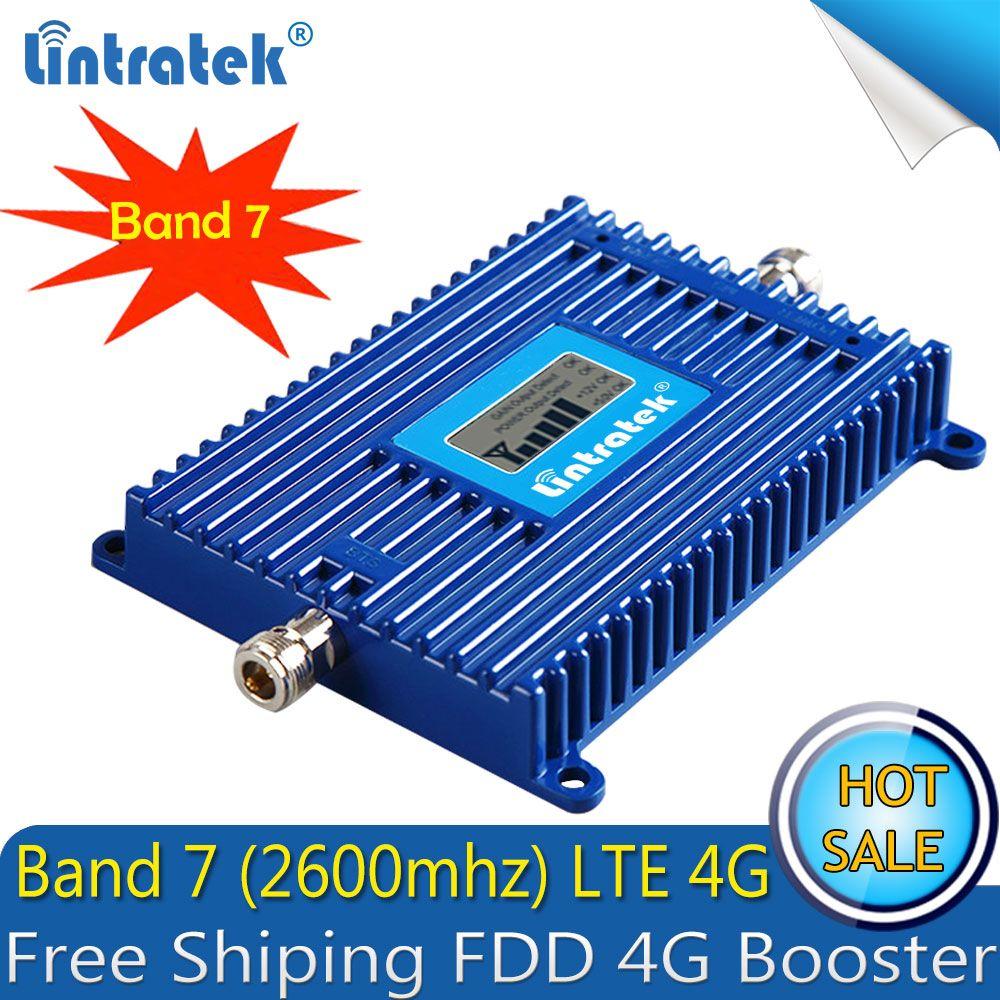 Livraison gratuite 4G LTE 2600 ALC amplificateur de Signal de téléphone portable AGC 70dB FDD LTE 2600 4G amplificateur de répéteur de Signal de Smartphone cellulaire 4G