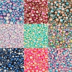 4/6/8/10mm Multi taille option sur 250 Pcs/lot aléatoire mix couleur pas de trous Perles Perles rondes Pour Le BRICOLAGE Scrapbook Décoration