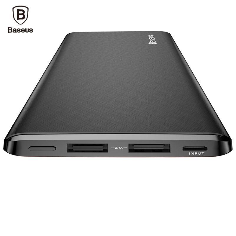 Baseus 10000 mAh Energienbank Für iPhone Xiaomi Mi Ultra Slim Power Poverbank Handy Externes Ladegerät 10000 mAh