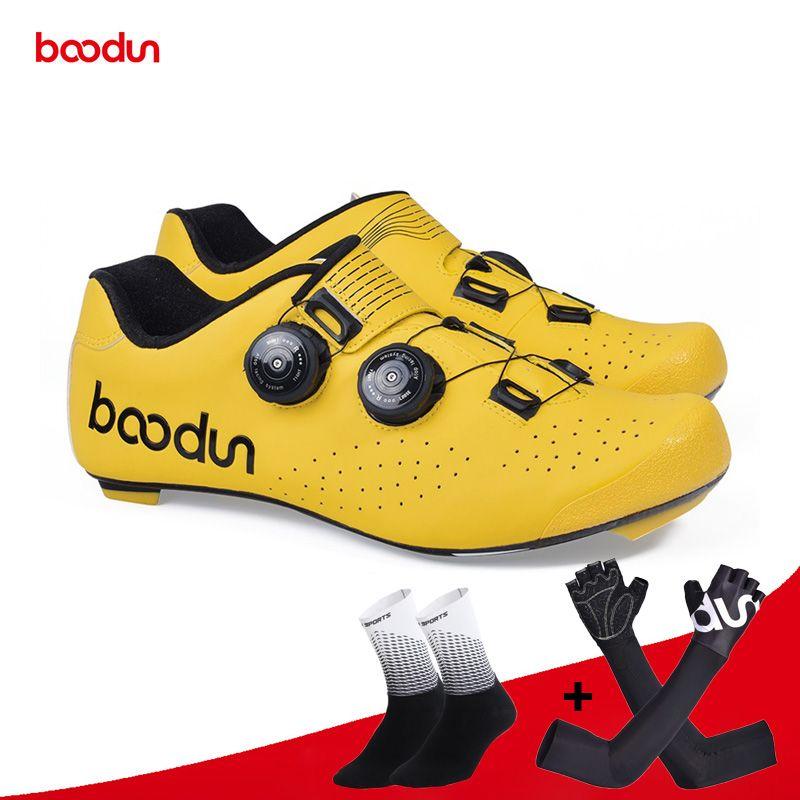 Boodun New Road Radfahren Schuhe Carbon Selbst-Locking Ultraleicht Atmungsaktive Schuhe Professionelle Fahrrad Racing Athletisch Sneaker