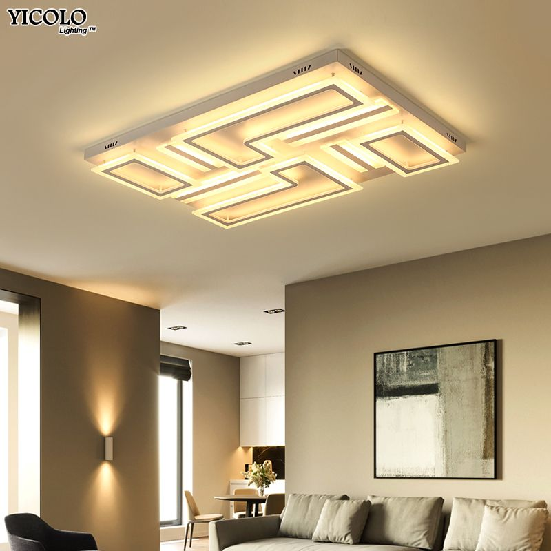 Dimming led ceiling light with Acrylic lamp ceiling for living room bedroom flush mount home Decorative Lampshade